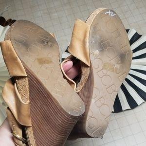 BCBG Paris Shoes - BCBG Paris Platform Cork Wedges size 7.5